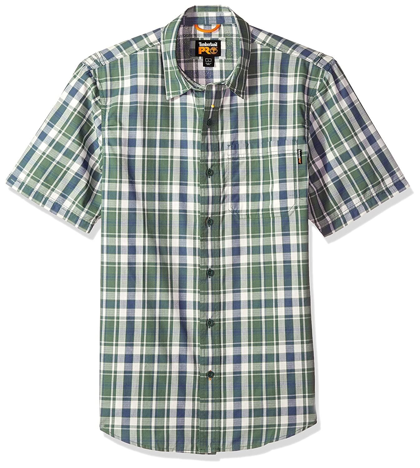 Timberland PRO Men's Plotline Short-Sleeve Plaid Work Shirt Timberland PRO Apparel TB0A1HPZ
