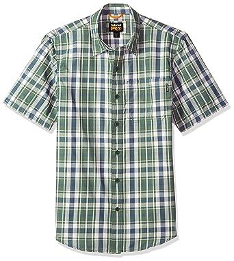 a428371e437 Amazon.com: Timberland PRO Men's Plotline Short-Sleeve Plaid Work Shirt:  Clothing