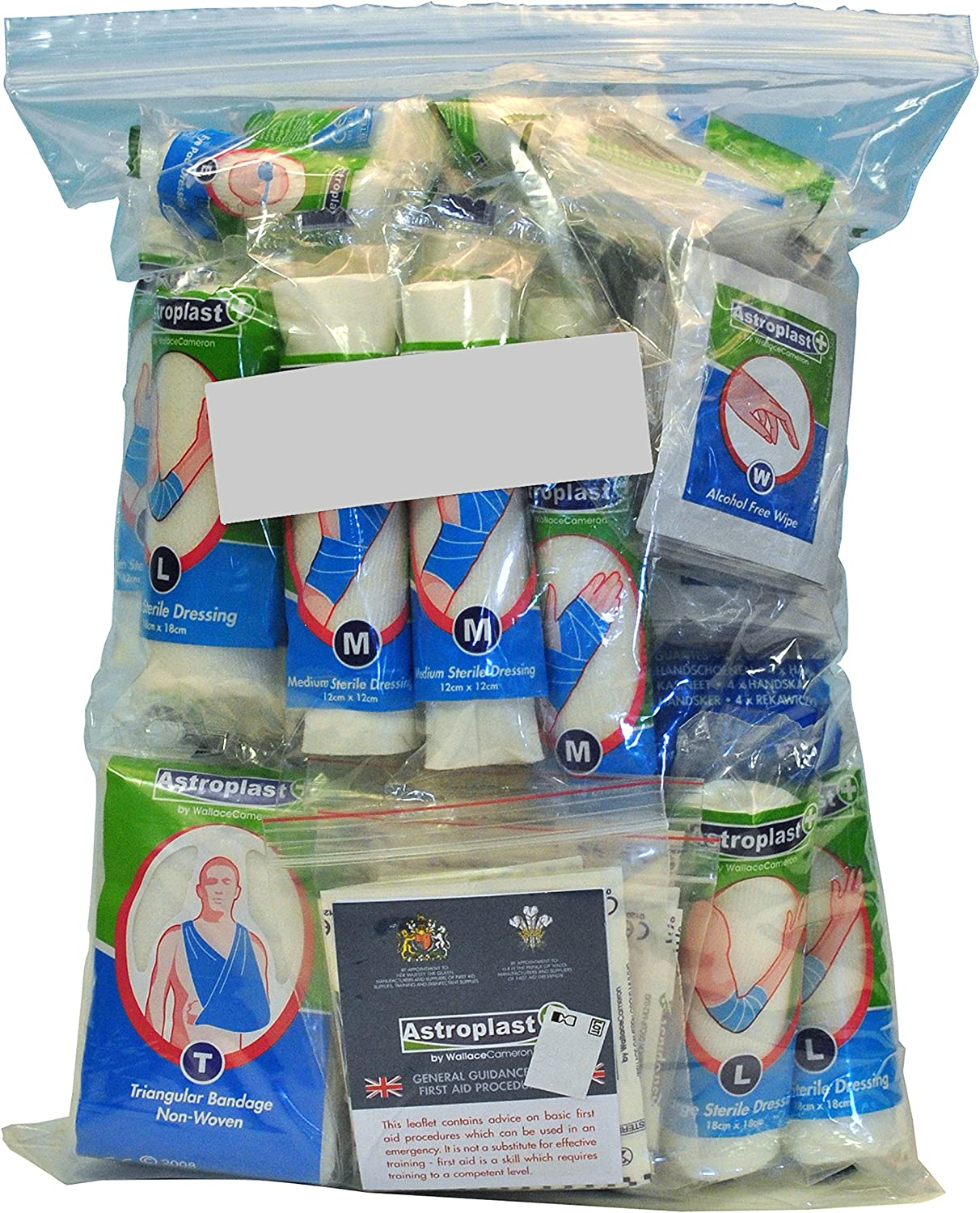 Wallace Cameron 50 Person Food Hygiene Kit Refill, 129 Count