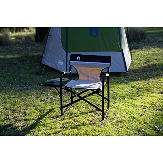 Amazon.com  Coleman Portable Deck Chair with Side Table  C&ing Chairs  Sports u0026 Outdoors  sc 1 st  Amazon.com & Amazon.com : Coleman Portable Deck Chair with Side Table : Camping ...