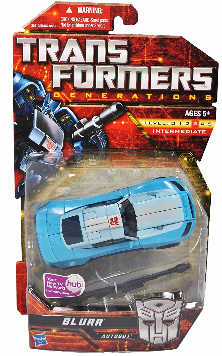 Transformers Generations Series Deluxe Class 6 Inch Tall Robot Action Figure - BLURR with Dual Laser Blasters (Vehicle Mode: Courier Car) by Hasbro: ...