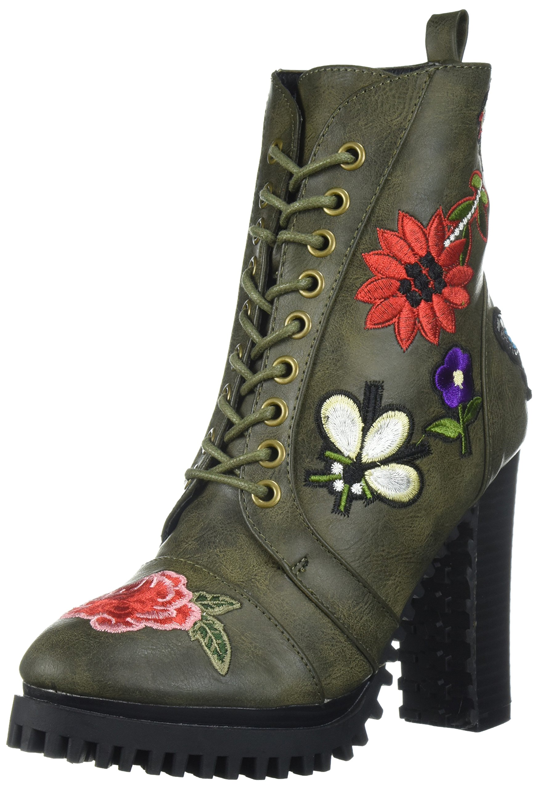 Penny Loves Kenny Women's Frank Combat Boot, Green, 11 M US