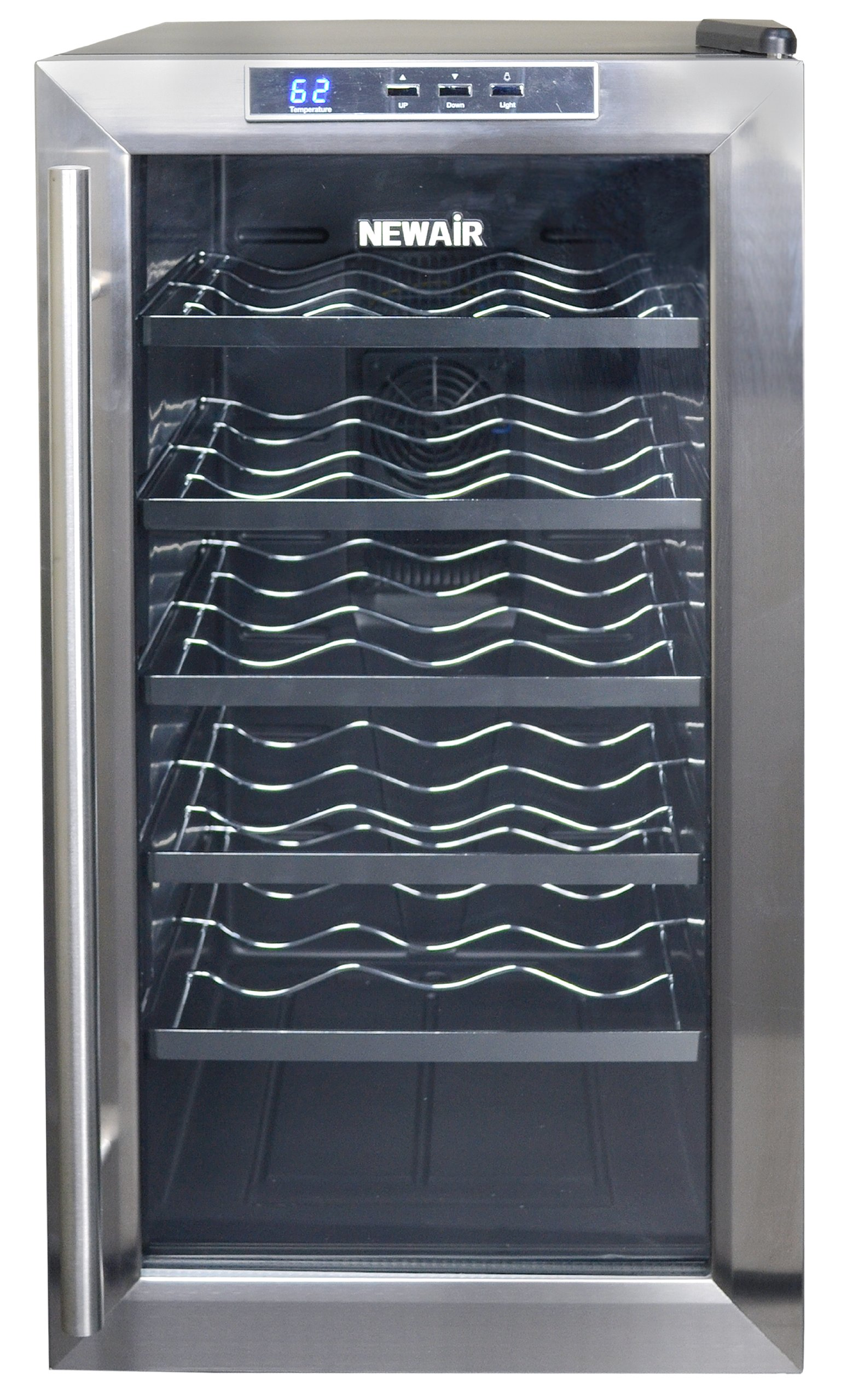 NewAir AW-181E 18 Bottle Thermoelectric Wine Cooler, Black by NewAir (Image #3)