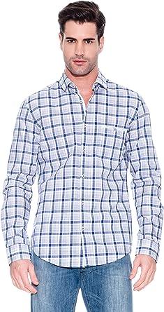 Hugo Boss Camisa Olivier Azul Marino/Blanco M: Amazon.es: Ropa y accesorios