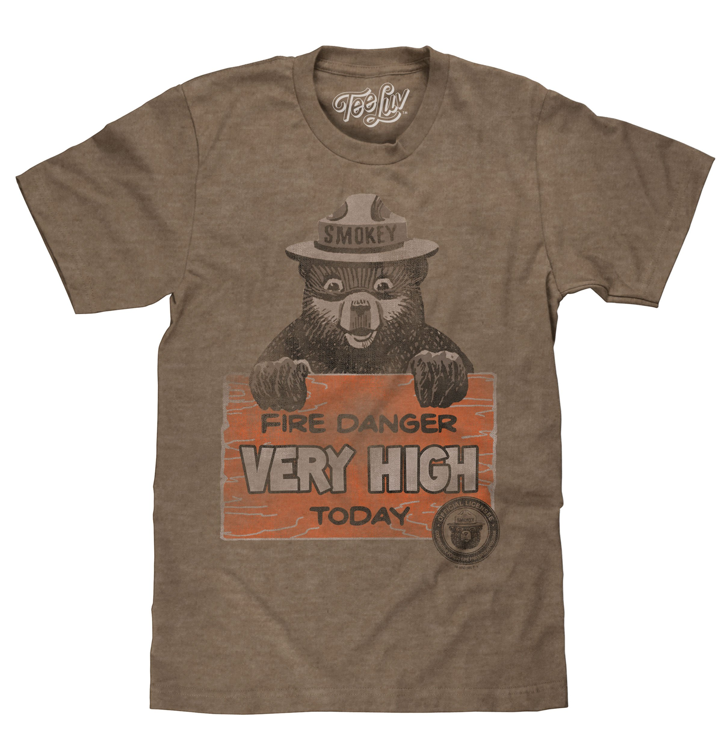 Tee Luv Smokey Bear Shirt – Fire Danger Very High Today Vintage T-Shirt