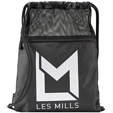 4a880b60a602 Reebok Studio Les Mills Gym Sack Drawstring Bag Black  Amazon.co.uk  Shoes    Bags