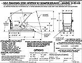Vestil D-25-LD-GRN-T Self-Dump LD Hopper, 0.25