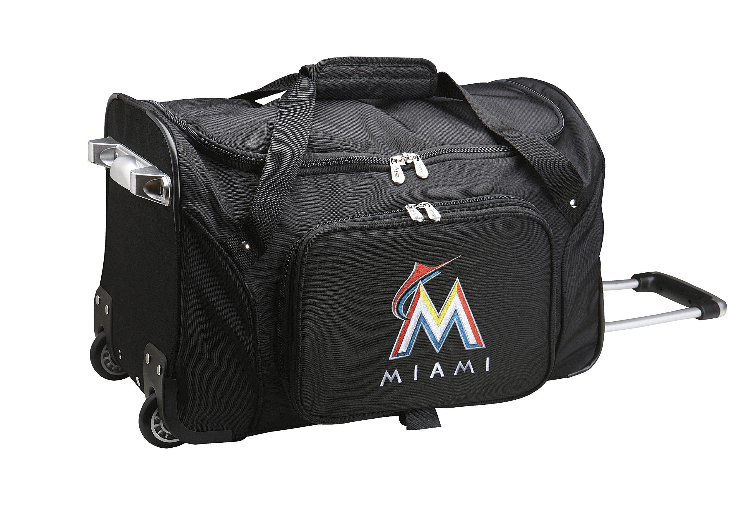 MLB Miami Marlins Wheeled Duffle Bag