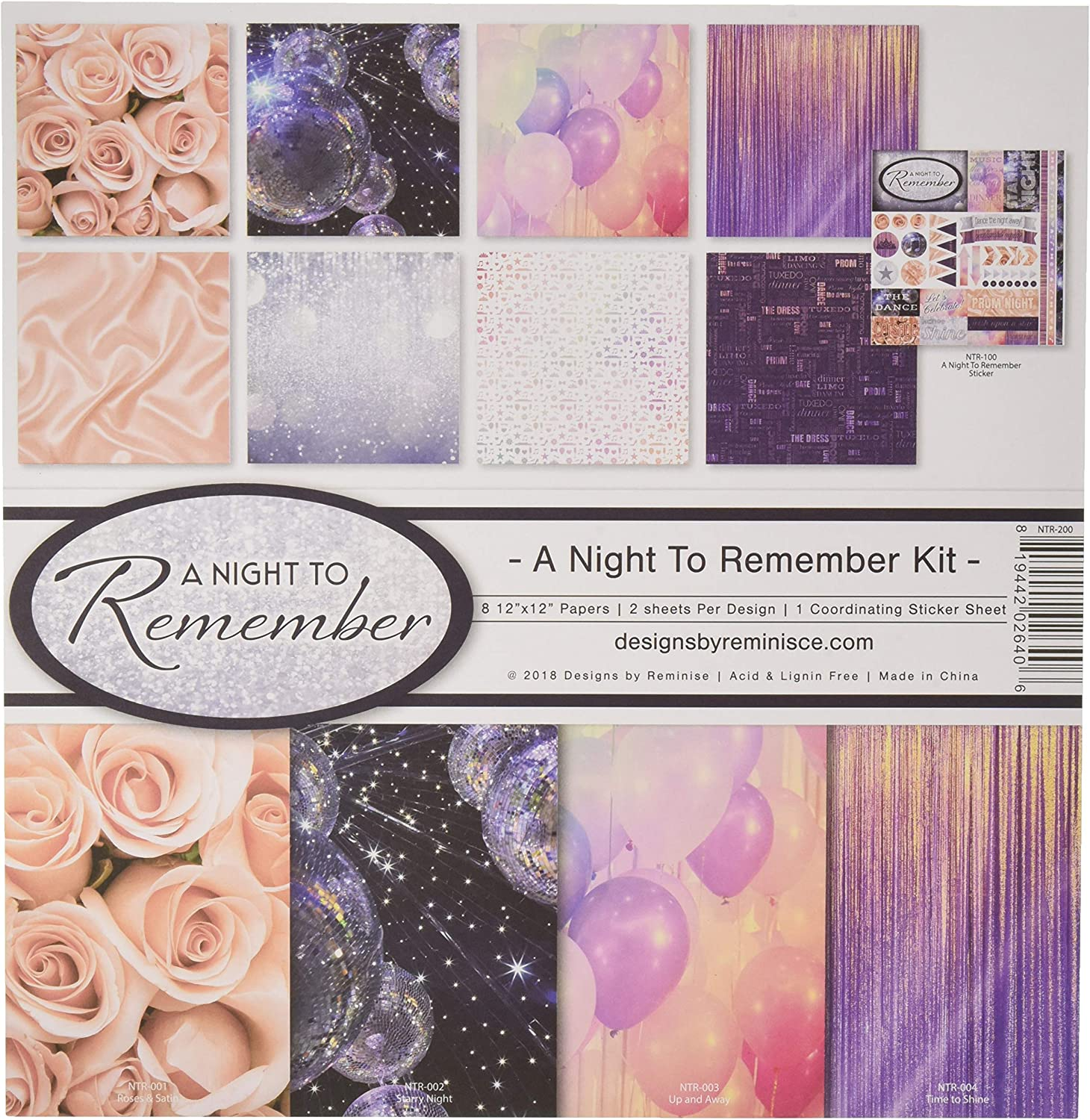 Prom Night 5 Sheets by Reminisce The Graduate 12x12 Scrapbook Paper