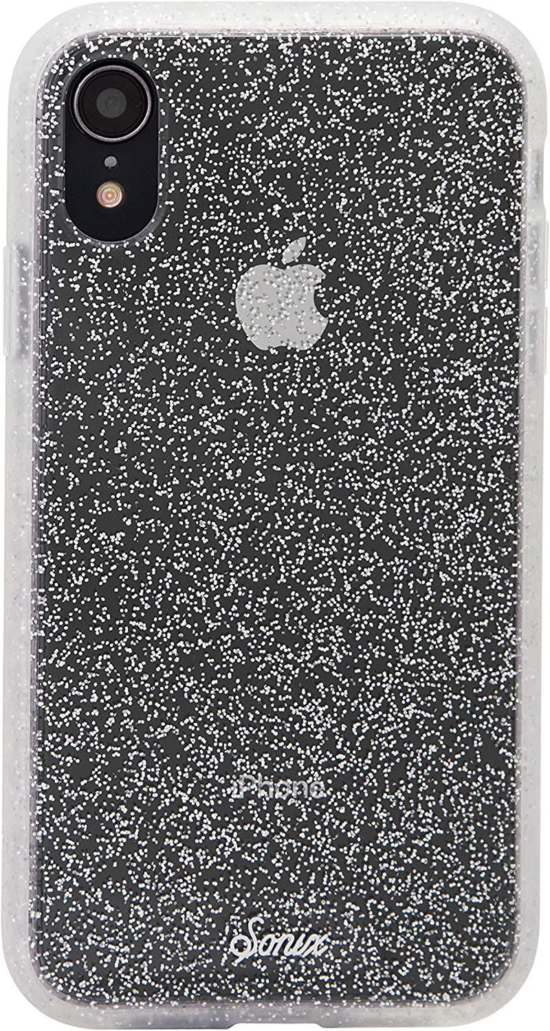 Sonix Silver Glitter Case for iPhone XR [Military Drop Test Certified] Protective Clear Case for Apple iPhone XR