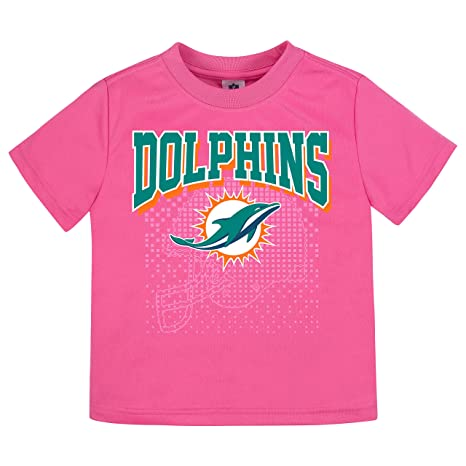 c979795a Amazon.com: NFL Miami Dolphins Girls Short-Sleeve Tee, Pink, 2T ...