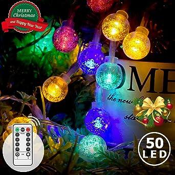 92 DEL Guirlande Électrique 1,2 m Jardin Party Éclairage Extérieur Décoration Noël