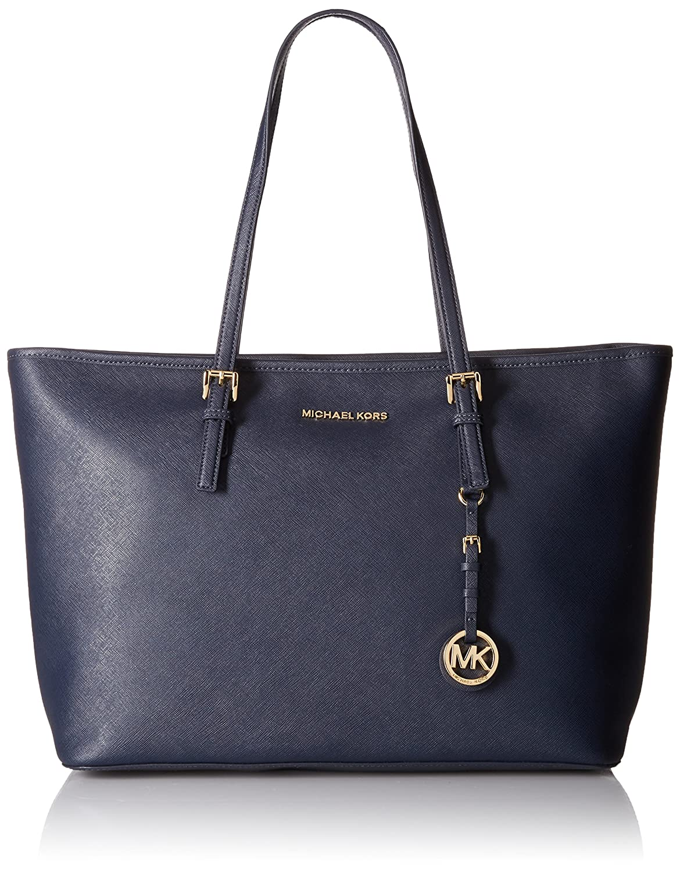3fa355f07fbe6 Amazon.com  Michael Kors Jet Set Travel Ladies Medium Leather Tote Handbag  30T5GTVT2L414  Shoes