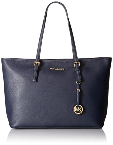 83ddecb796610 Amazon.com  Michael Kors Jet Set Travel Ladies Medium Leather Tote Handbag  30T5GTVT2L414  Shoes