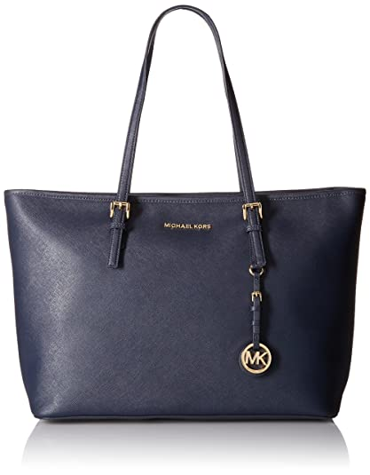 e70d0247d4ba Amazon.com: Michael Kors Jet Set Travel Ladies Medium Leather Tote Handbag  30T5GTVT2L414: Shoes