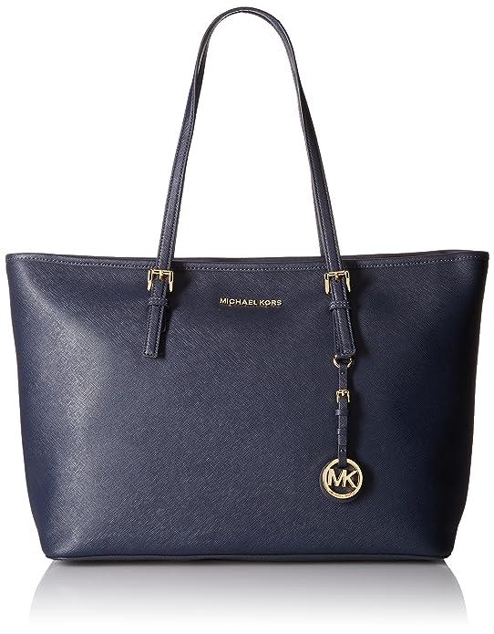 6bb14d31af2a4c Amazon.com: Michael Kors Jet Set Travel Ladies Medium Leather Tote Handbag  30T5GTVT2L414: Shoes
