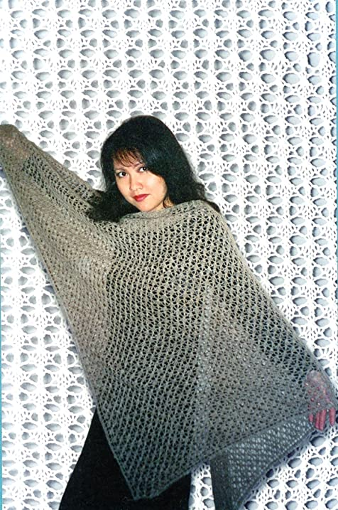 Amazon charlottes easy lace shawl fiber trends knitting charlottes easy lace shawl fiber trends knitting pattern 102lc lily chin dt1010fo