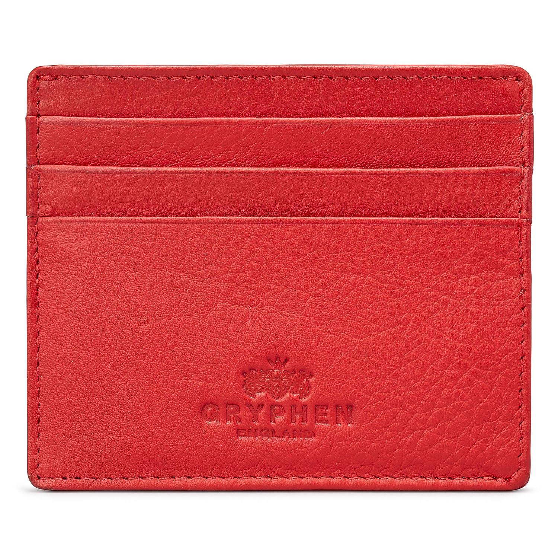 Portefeuille Hoxton fin en cuir pour cartes de crédit, par Gryphen