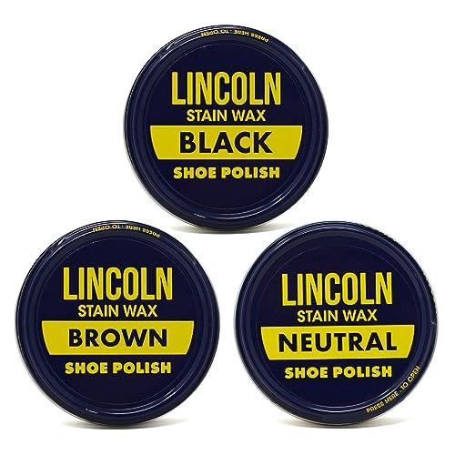Lincoln manchas cera para zapatos negro, marrón, neutral variedad 3 unidades: Amazon.es: Zapatos y complementos