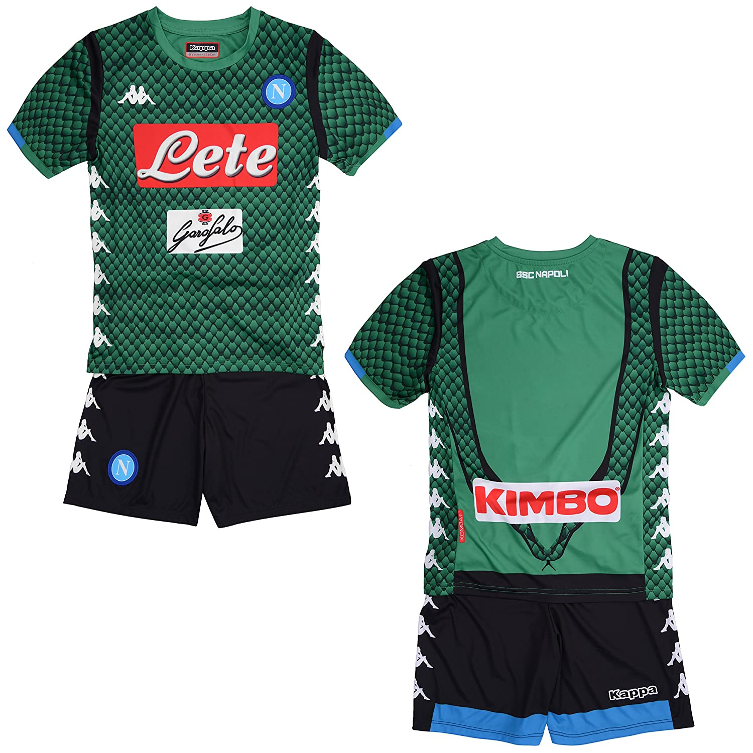 8e55510f9f7 SSC Napoli junior goalkeeper match kit  Amazon.co.uk  Sports   Outdoors