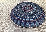 "Anokhiart 32"" Mandala Barmeri Large Floor Pillow"