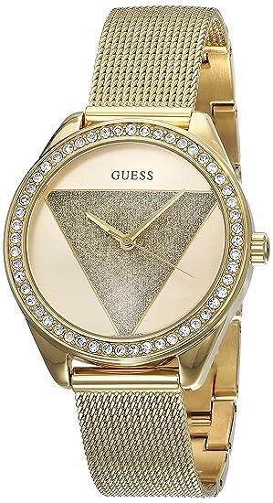 Guess Reloj Analógico para Mujer de Cuarzo con Correa en Acero Inoxidable W1142L2: Amazon.es: Relojes