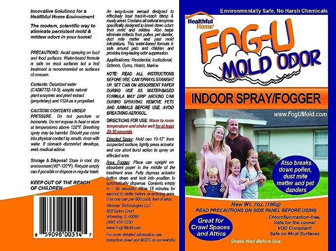Amazon Healthful Home Fog U Mold Odor Indoor Fogger 12