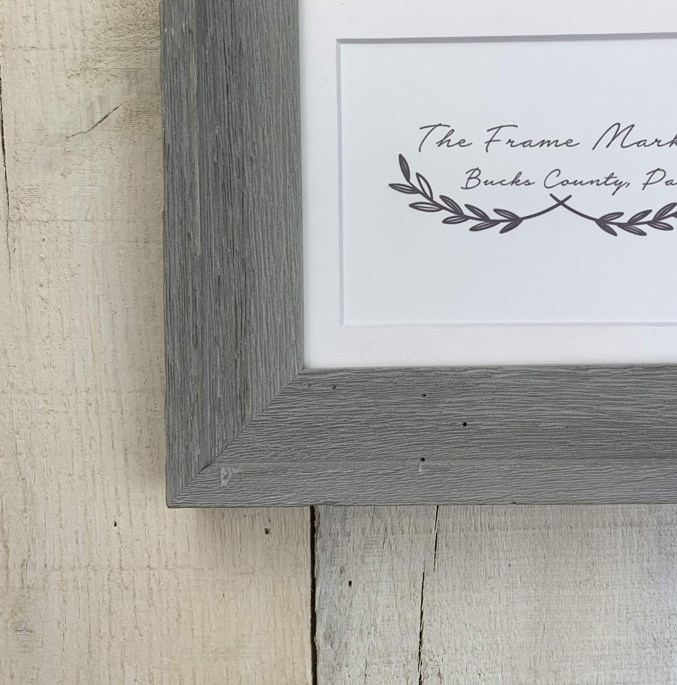 Bucks County Grey Barn Wood Picture Frame 8x10, 9x12, 11x14, 14x16, 16x20 Standard and custom sizes available. by TheFrameMarket