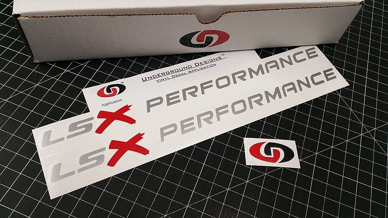 Amazon com lsx performance hood decals ls1 ls6 ls2 ls3 ls7 stickers select color metallic silver x 11 5 automotive