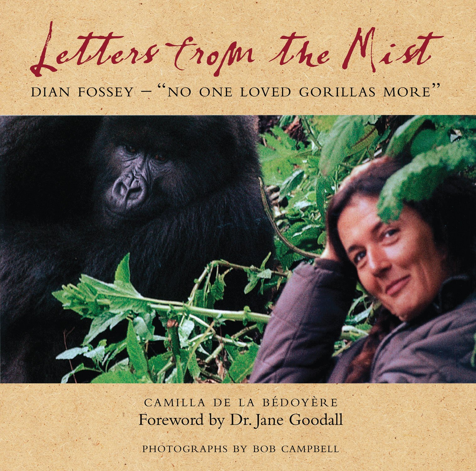 Letters from the mist dian fossey no one loved gorillas more camilla de la b doy re bob campbell dr jane goodall 9780956444899 amazon com books