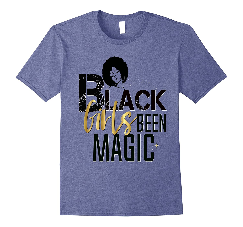 Black Girls Been Magic Shirt Vintage Distressed Gold Afro-CD