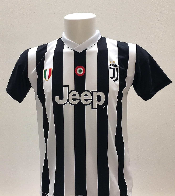 Camiseta de fútbol Paulo Dybala 10, la joya de la Juventus, réplica autorizada 2017-2018, para niño (tallas 2, 4, 6, 8, 10, 12), adulto (S, M, L, ...