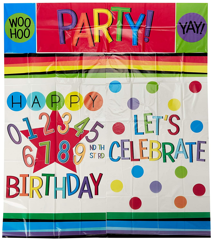 Amscan Rainbow Happy Birthday Add Any Age Scene