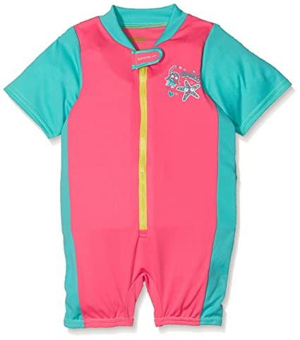 Speedo Sea Squad Traje de Baño con Flotador Integrado, niña, Rosa (Vegas Pink
