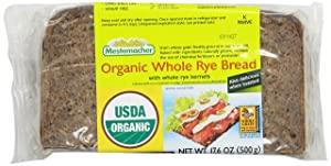 Mestemacher Bread, Organic Whole Rye, 17.6 Ounce Packages (Pack of 12)