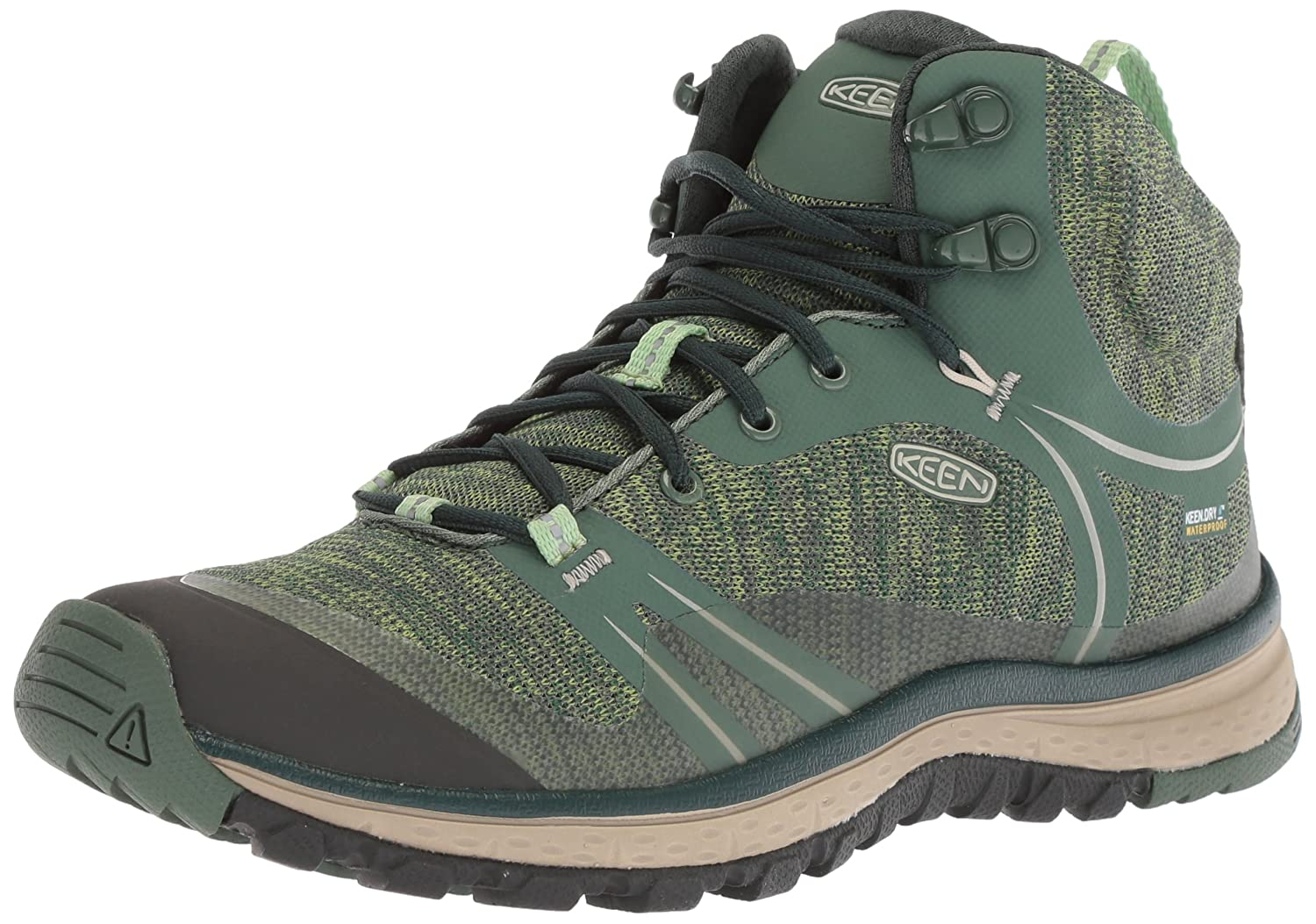 KEEN Women's Terradora Mid Waterproof Hiking Shoe B071DHBCKB 5 B(M) US|Duck Green/Quiet Green