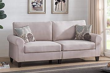 Amazon.com: 2L Lifestyle Bailey Classic,Comfort Design Sofa , Beige: Furniture & Decor