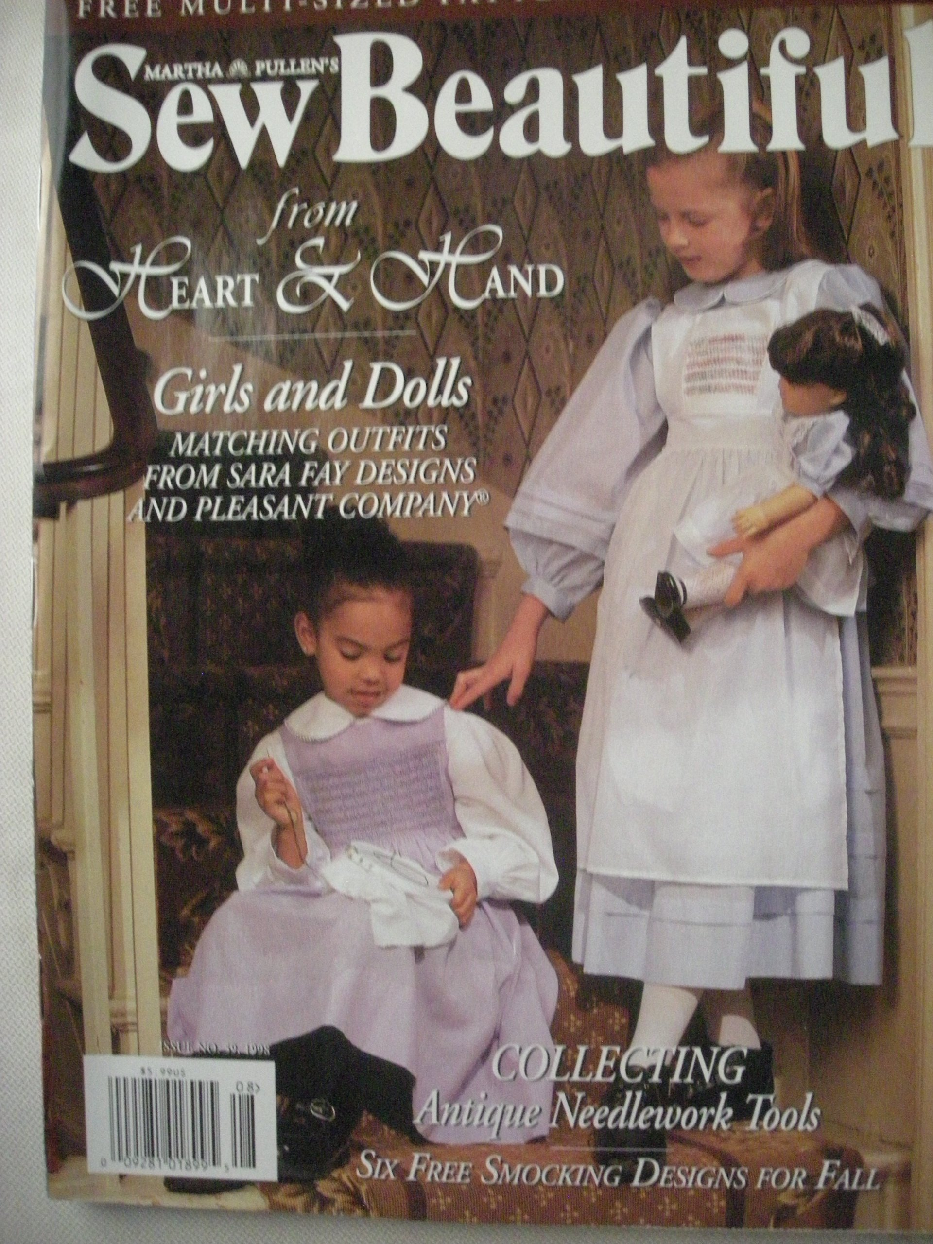 MARTHA PULLEN'S SEW BEAUTIFUL magazine Fall 1998 (No  59, Girls and