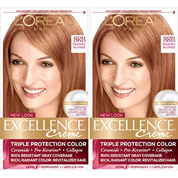 Amazon Com L Oreal Paris Excellence Creme Permanent Hair Color 8rb