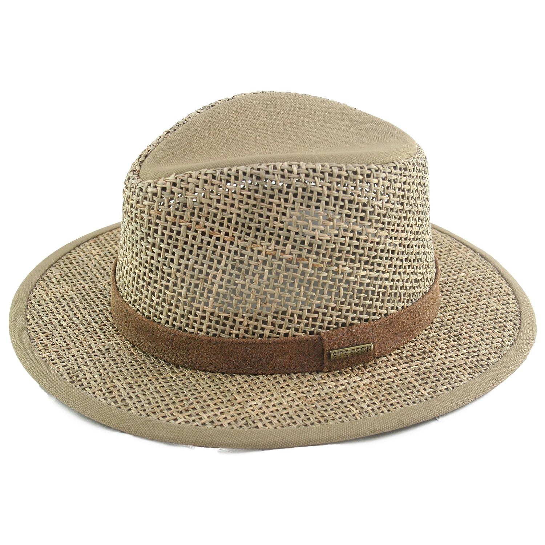 Stetson Medfield Seagrass Sonnenhut für Herren Strohhut Herrenhut mit Lederband, Einfass Frühjahr Sommer Einfass Frühjahr Sommer 2478504