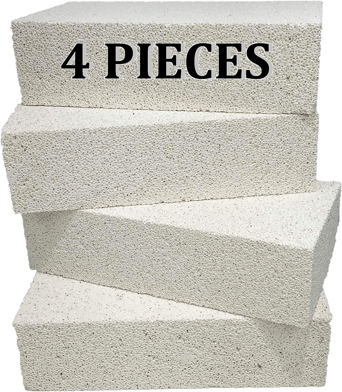 US Stove FireBrick 4.5 x 9 x 1.25 Inch Wood Stove Ceramic Fire Bricks 24 Brick