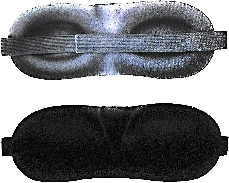 Masque de Nuit et Sommeil id/éal Pour Dormir Skyjen Livr/é avec sa pochette en velours Bouchons dOreilles 100/% Occultant et R/églable et un Dispositif Anti Ronflement.