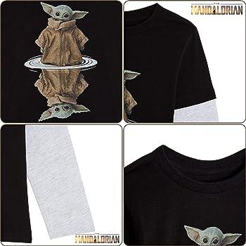 Star Wars Camiseta Niño, Camisetas Niño de Manga Larga Gris y Negra, con Baby Yoda The Mandalorian The Child, Ropa Niño, Regalos Niños: Amazon.es: Ropa y accesorios