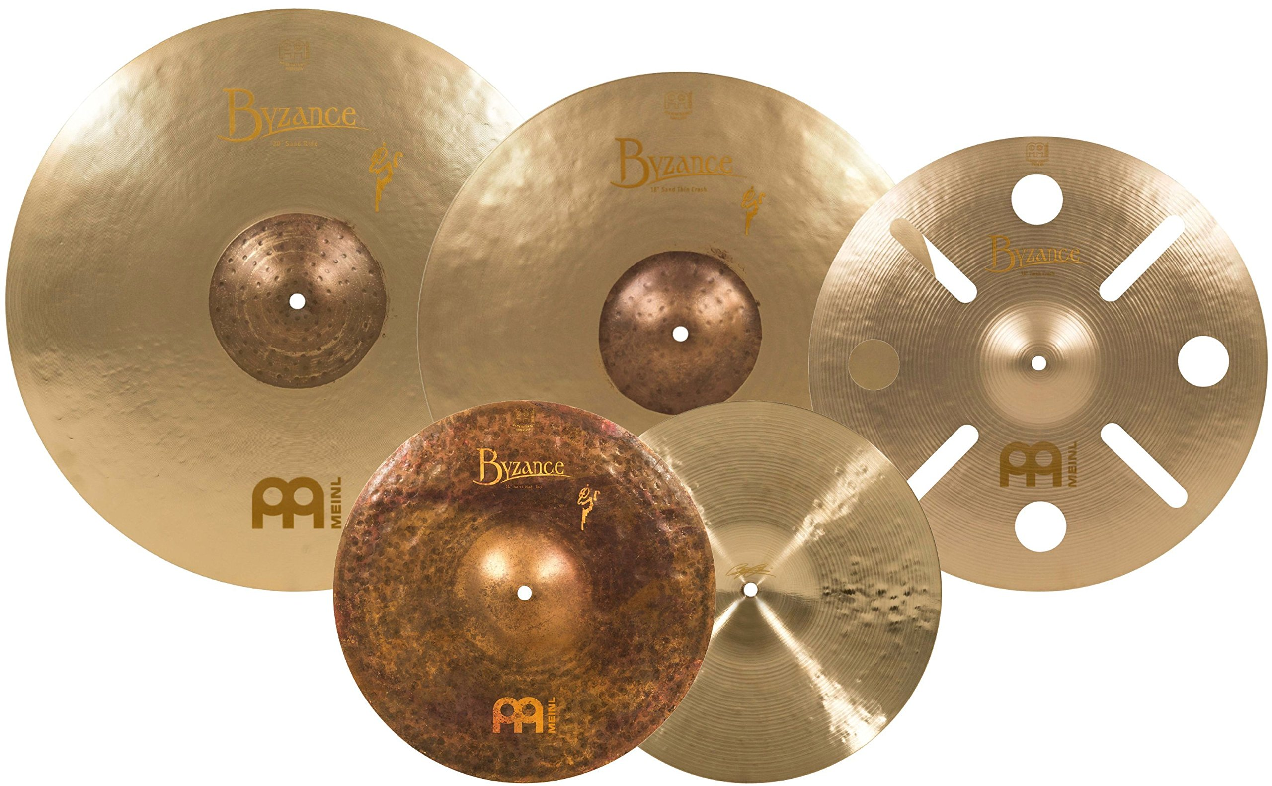 Meinl Cymbals BV-480+B16TRC Byzance Vintage Series Benny Greb Sand Cymbal Box Set Pack with FREE 16-Inch Trash Crash (VIDEO)