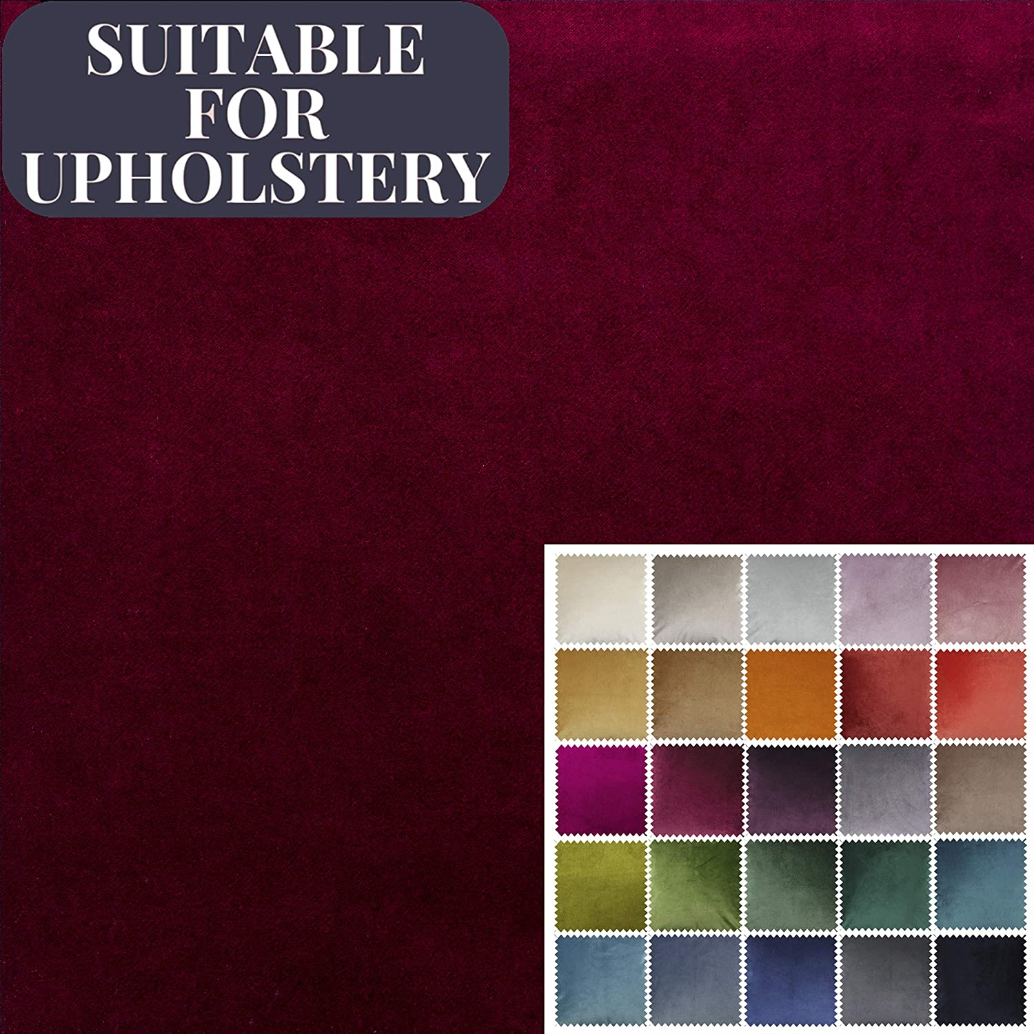 Premium Plain Purple Chenille FR Fabric Upholstery Strong Cushion Crafting Sofa