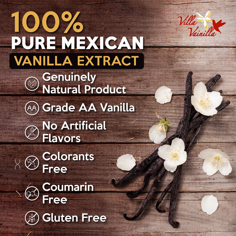 Villa Vainilla pure vanilla extract (8.4 fl.oz.) - Made with Premium, Hand-Picked Vanilla Beans - genuine and Natural Gourmet Flavor from Mexico - Kosher, vegan, GF by Villa Vainilla (Image #4)