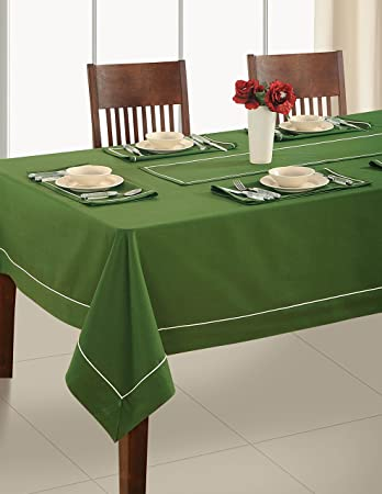 Handmade Olive Green Table Linen Set for 6 Seat Table Includes Rectangle Tablecloth 6 & Amazon.com: Handmade Olive Green Table Linen Set for 6 Seat Table ...
