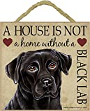 Labrador Black Gift - Plaque 'House is not a Home' - Hang it or Stand it on the easel..