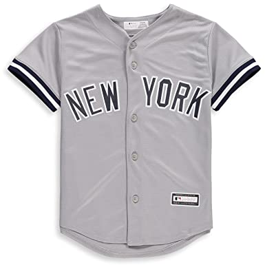 differently 15151 4919e New York Yankees Blank Gray Youth Cool Base Road Jersey