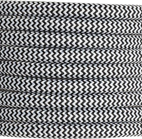 Gris//Gris Woods 64598101 Decoración serie 8 Pies De Tela Trenzada De Interior 125 voltios